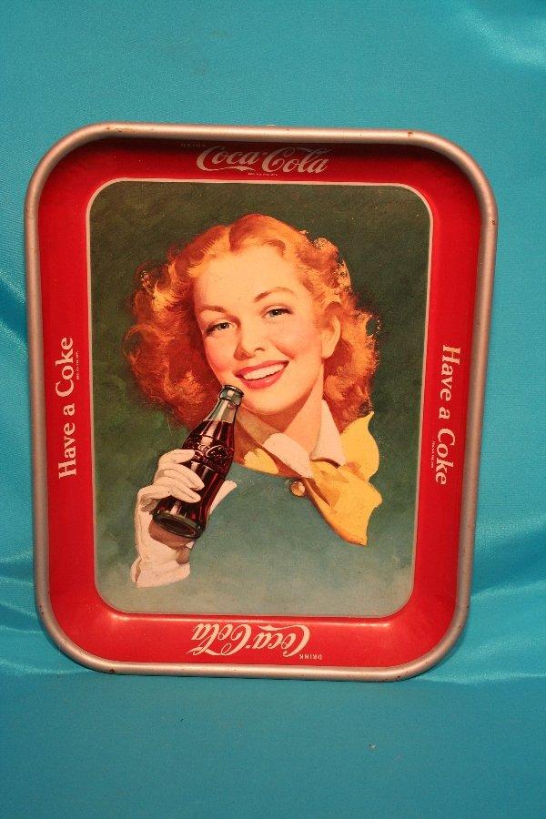 192: 1950-1952 Coke advertising metal tray