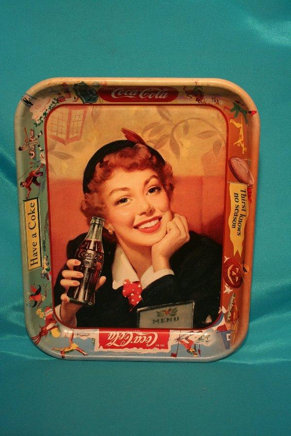 193: 1953-1960 Coke advertising metal tray