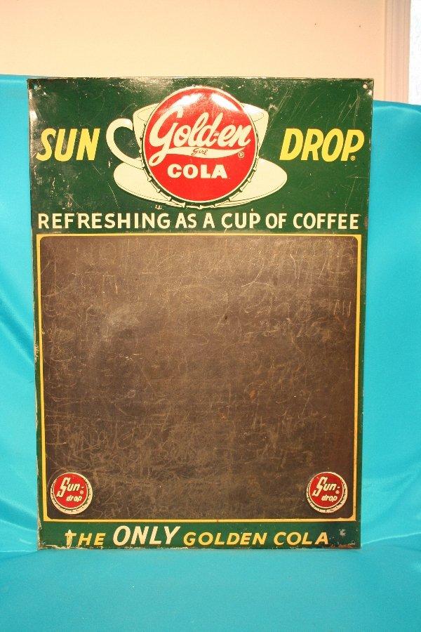 326: tin Sun Drop menu board advertising sign