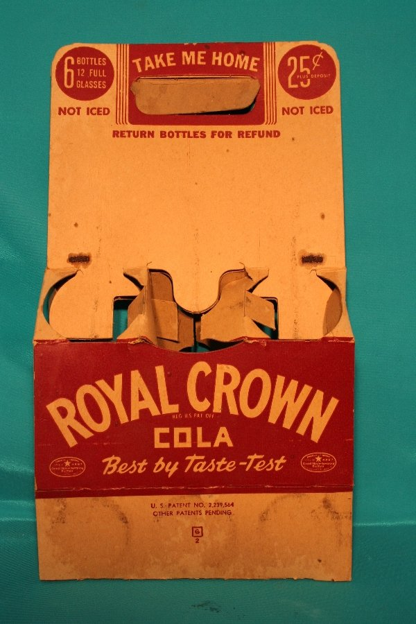 337: Royal Crown Cola paper Six (6) pack carrier