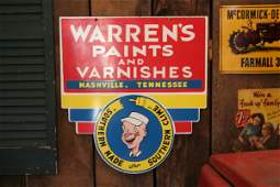 345: Warren's Paints And Varnishes advertising sign