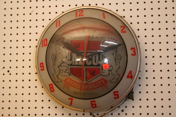 374: ADCO advertising clock bubble glass