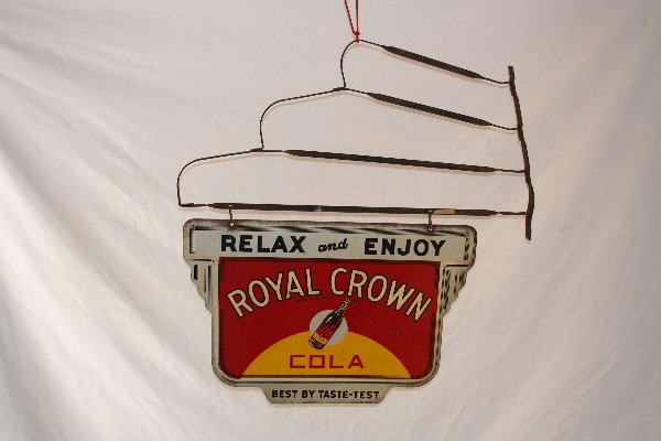 392: Royal Crown Cola hanging sign