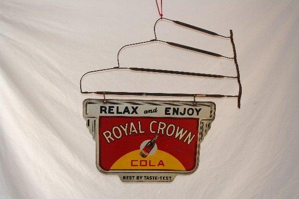 392: Royal Crown Cola hanging sign