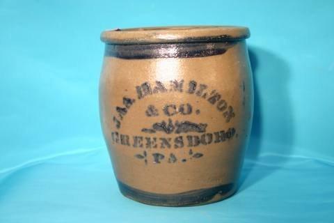 3: Hamilton stoneware crock