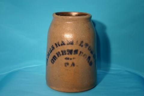 4: Hamilton stoneware jar