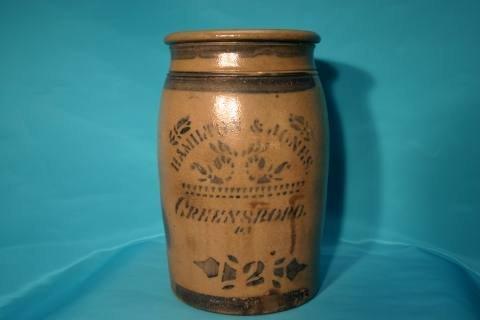 6: Hamilton stoneware crock