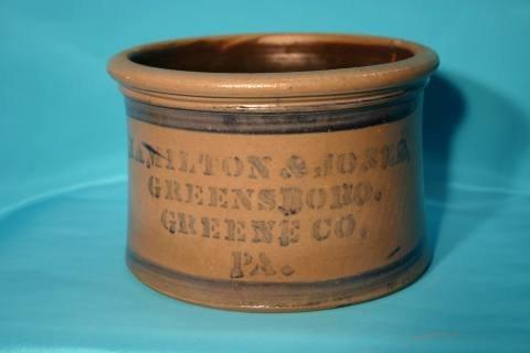 7: Hamilton stoneware crock