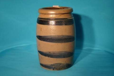 8: Banded stoneware crock