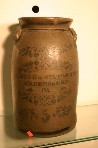 12: Hamilton stoneware crock