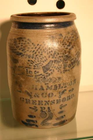 13: Hamilton stoneware crock