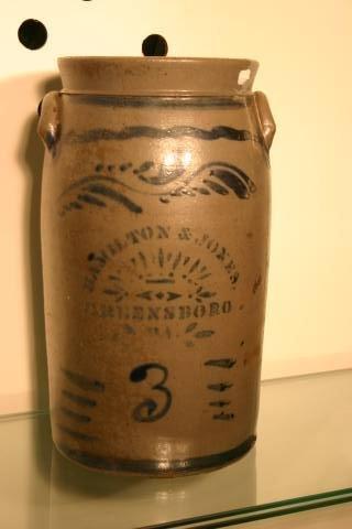 14: Hamilton stoneware crock