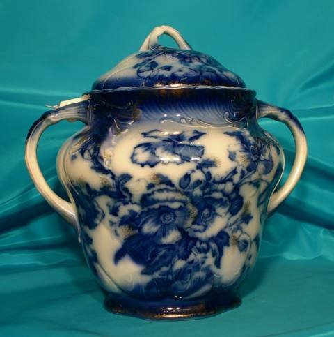 155: Flow blue vessel