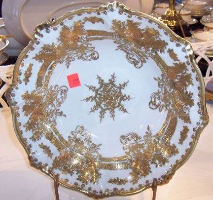 163A: Nippon gold floral bowl