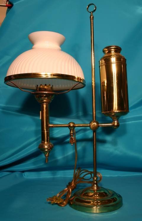 211: Brass student lamp