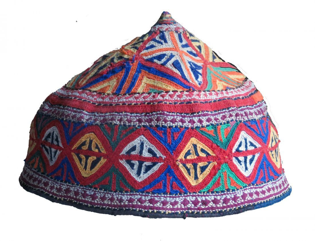Quchan Kurd Embroidered Hat, NE Persia, circa 1920