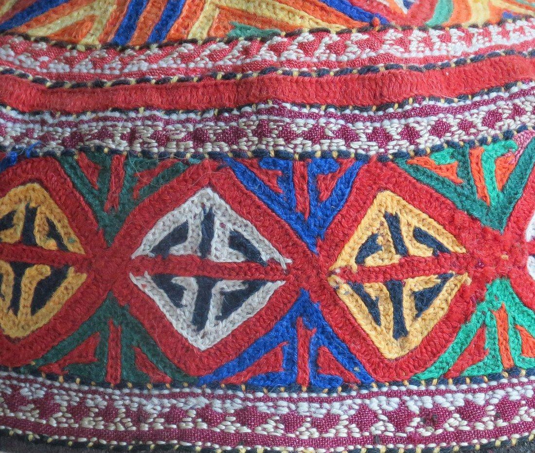 Quchan Kurd Embroidered Hat, NE Persia, circa 1920 - 2