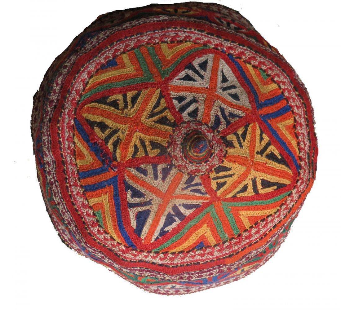 Quchan Kurd Embroidered Hat, NE Persia, circa 1920 - 3