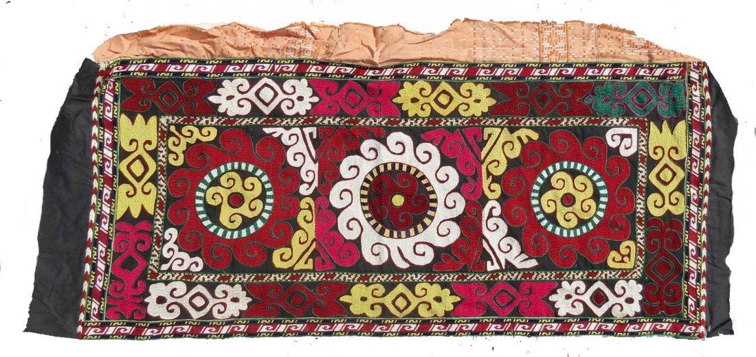 Uzbek Embroidered Bag, Central Asia, 1940s