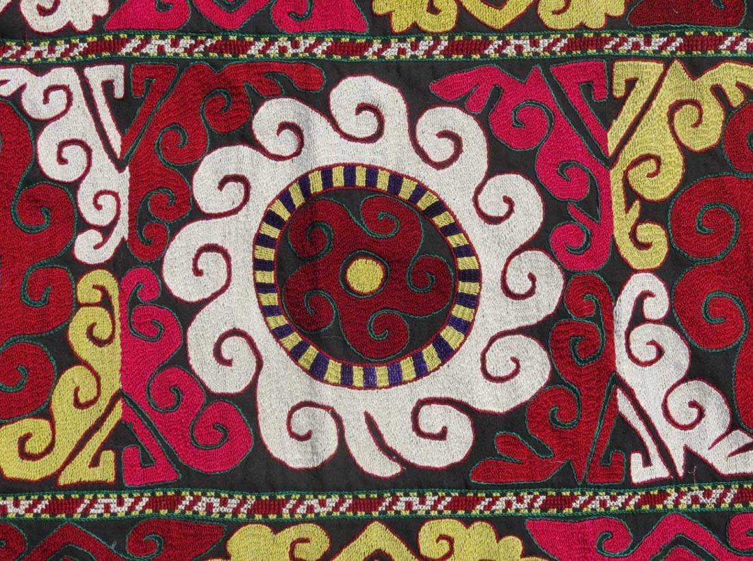 Uzbek Embroidered Bag, Central Asia, 1940s - 3