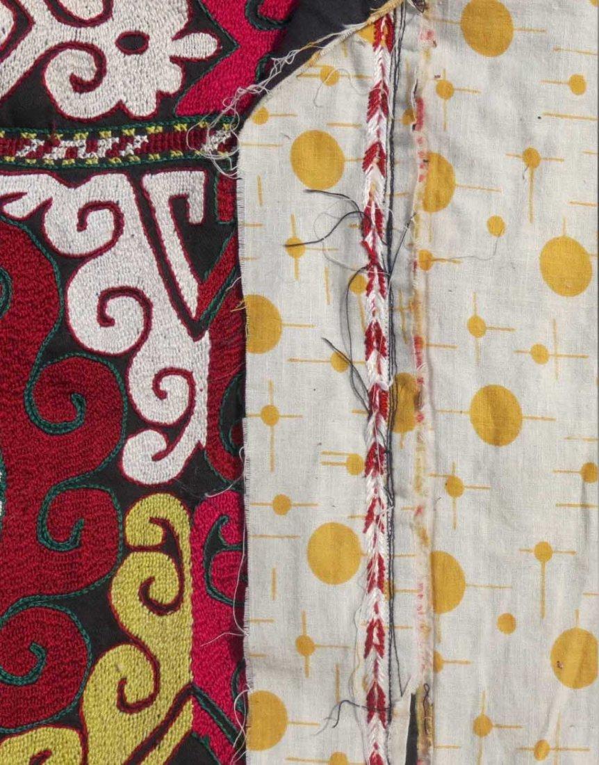 Uzbek Embroidered Bag, Central Asia, 1940s - 4