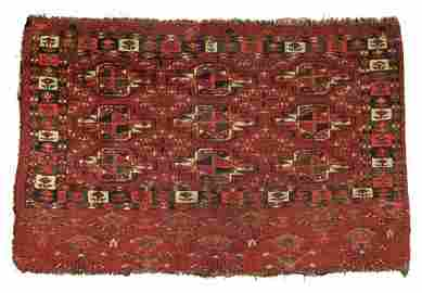 """Turkmen Chuval, Central Asia, 19th C., 3'6"""" x 2'6"""""""