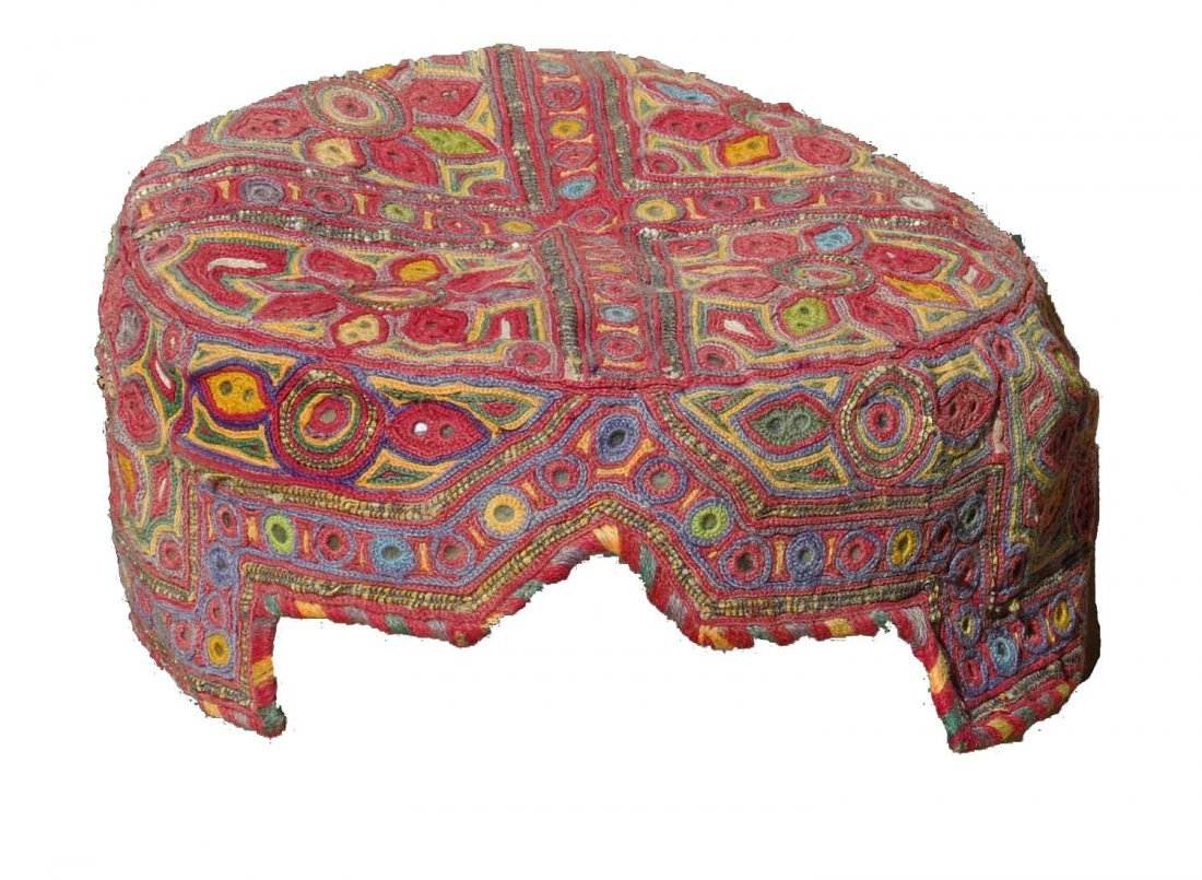 Silk Embroidered  Hat, Afghanistan, circa 1930,