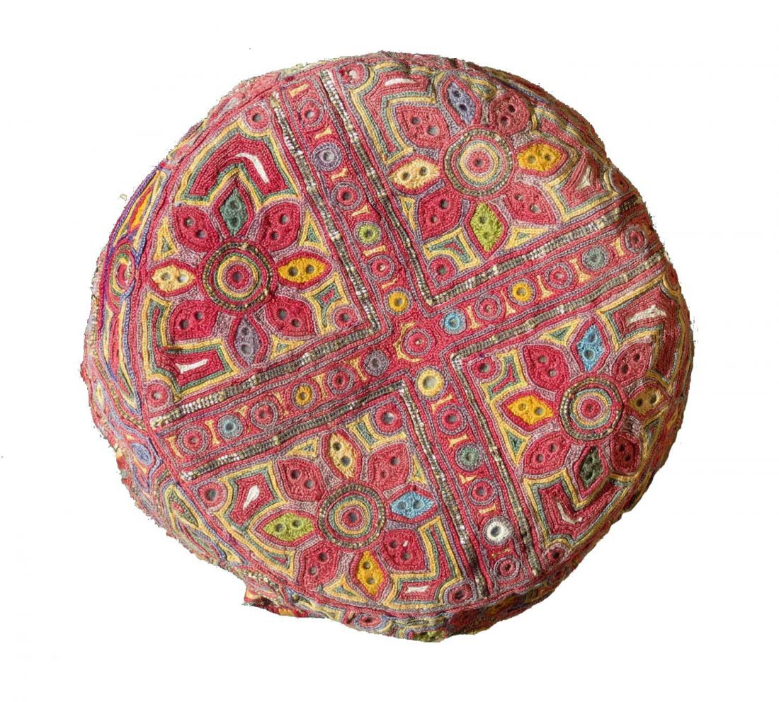Silk Embroidered  Hat, Afghanistan, circa 1930, - 2