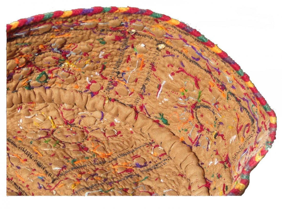 Silk Embroidered  Hat, Afghanistan, circa 1930, - 3
