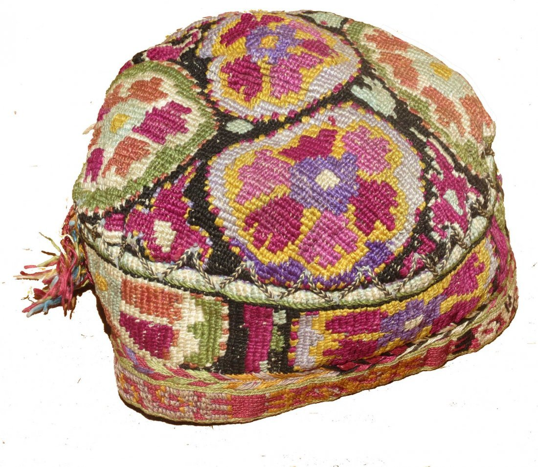Uzbek Embroidered Hat, circa 1900
