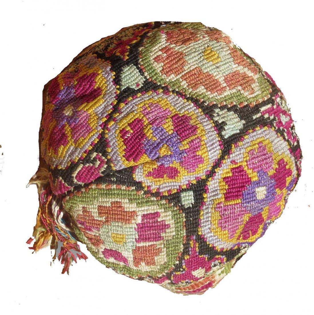 Uzbek Embroidered Hat, circa 1900 - 2