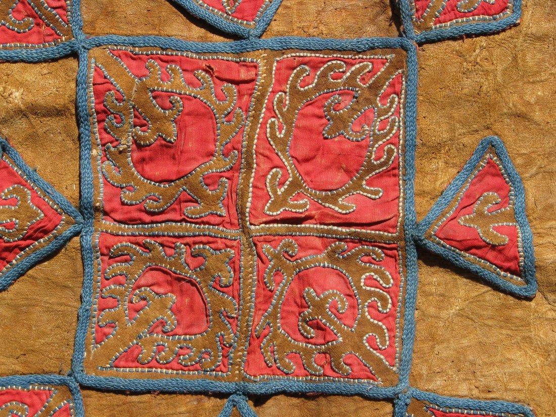Kirghiz/Kyrgyz Leather Applique, circa 1900 - 2