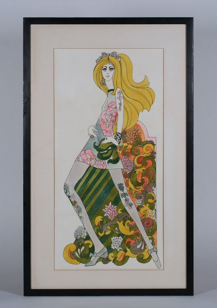 Jerry Pinkney Pop Art Watercolor Illustration Painting - 3
