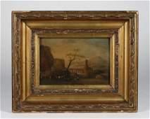 Italian-Dutch Miniature Landscape Painting-17th Century