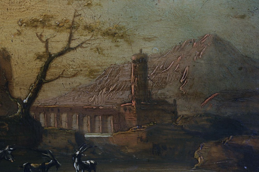 Small Dutch or Italian Landscape Painting-17th Century - 10
