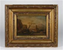 Small Dutch or Italian Landscape Painting-17th Century
