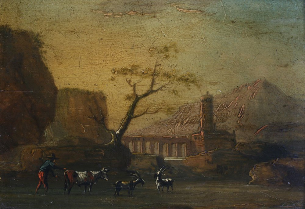Small Dutch or Italian Landscape Painting-17th Century - 2