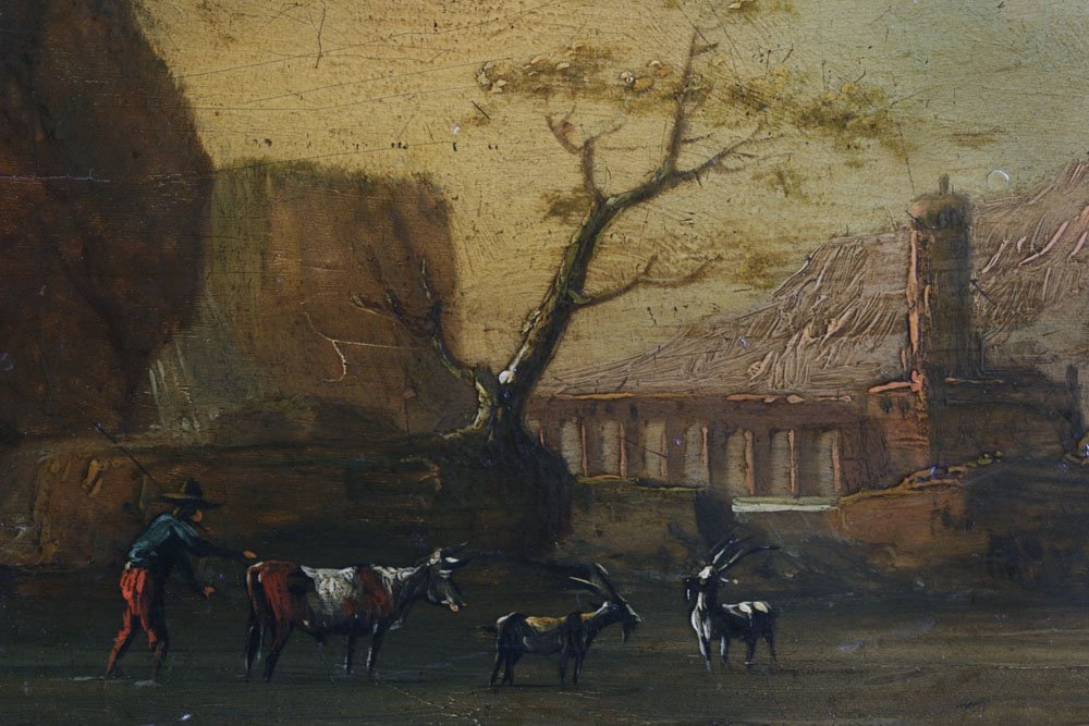 Small Dutch or Italian Landscape Painting-17th Century - 5