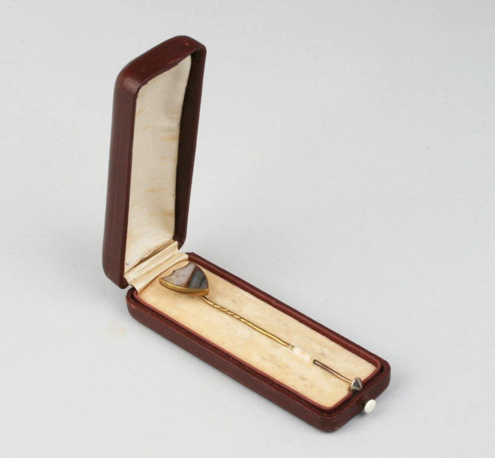 Antique California Gold Rush Gold-Quartz Stick Pin