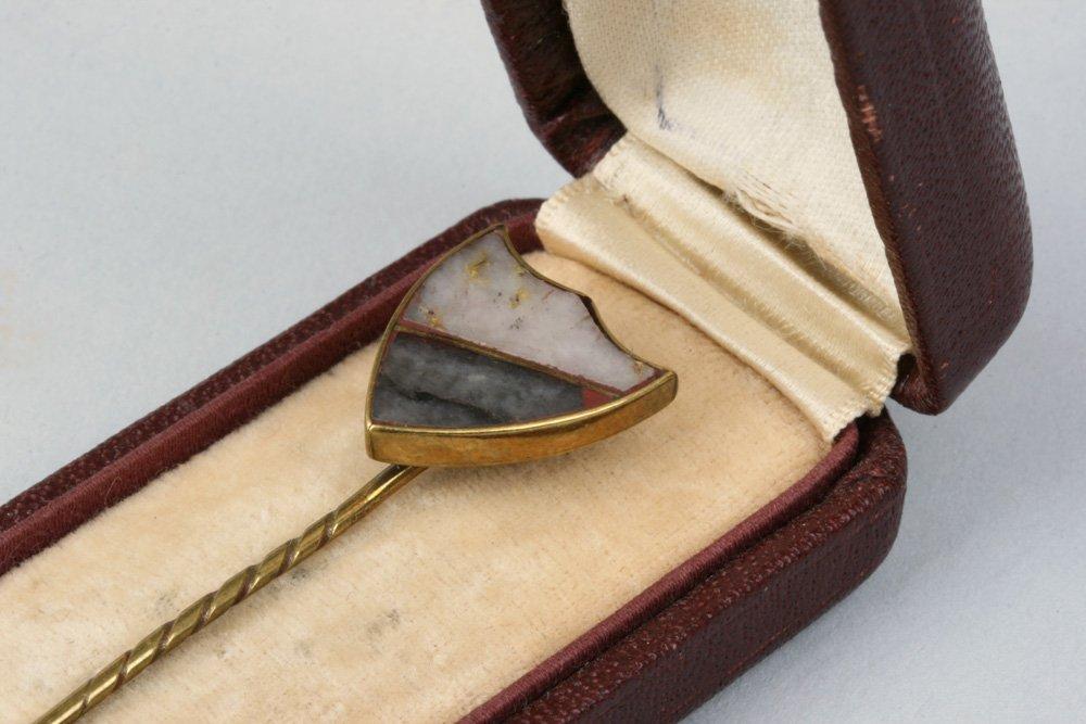 Antique California Gold Rush Gold-Quartz Stick Pin - 2