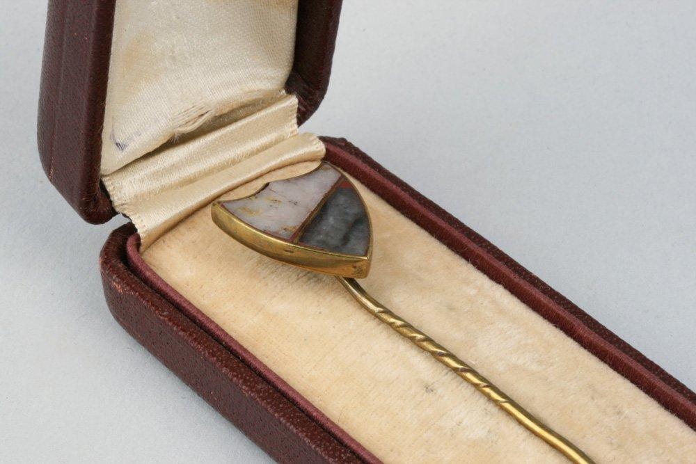 Antique California Gold Rush Gold-Quartz Stick Pin - 6