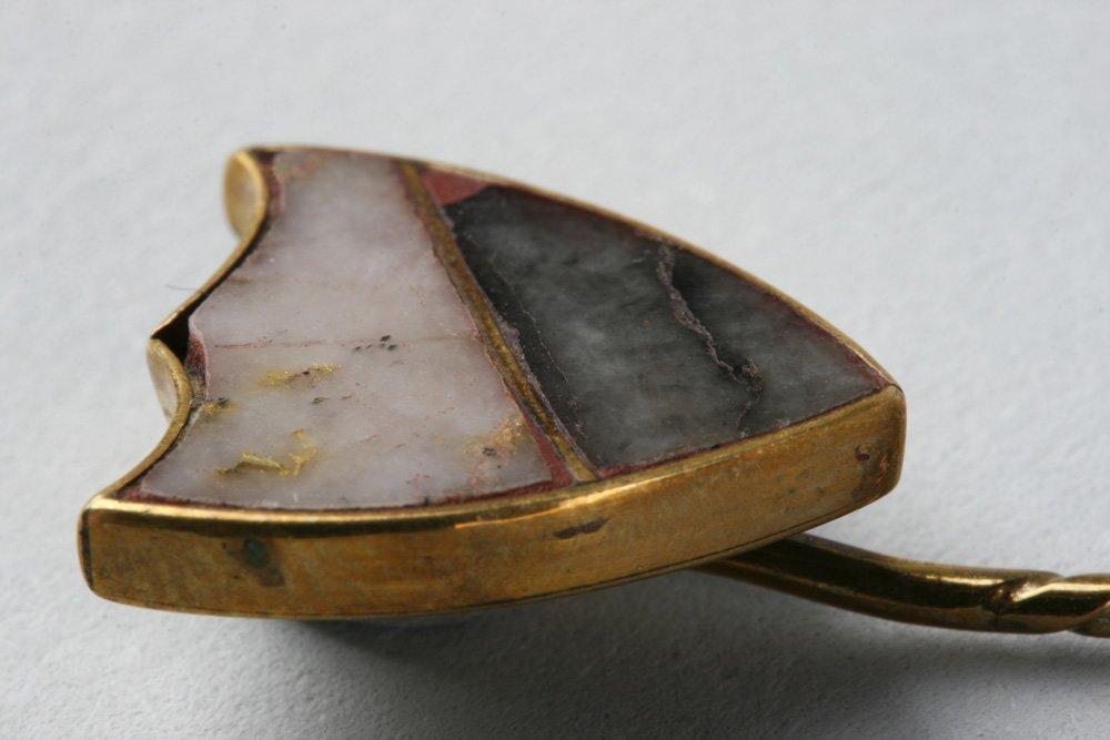Antique California Gold Rush Gold-Quartz Stick Pin - 7