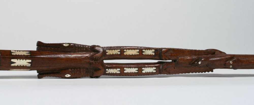Solomon Islands Chief's Staff with Shell Inlay - 10