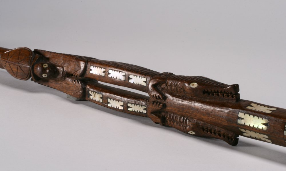 Solomon Islands Chief's Staff with Shell Inlay