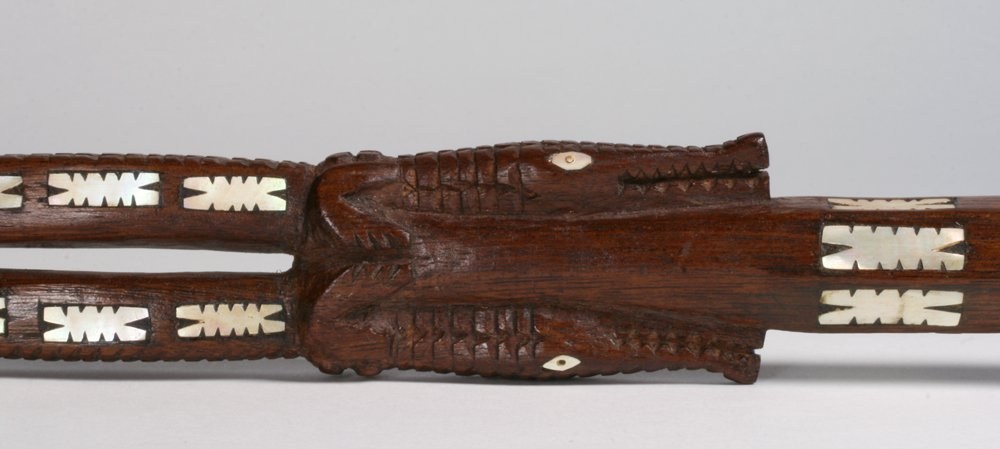 Solomon Islands Chief's Staff with Shell Inlay - 4