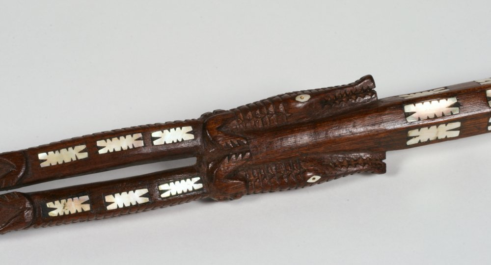 Solomon Islands Chief's Staff with Shell Inlay - 7