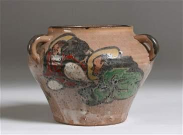 Antique Japanese Stoneware Bowl ~ Signed