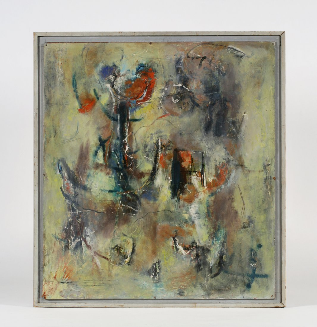 Abstract Painting Attributed to Gerard Schneider (1896-