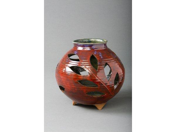 6: Larry Allen, Round Pot w/Cut Leaf Openings