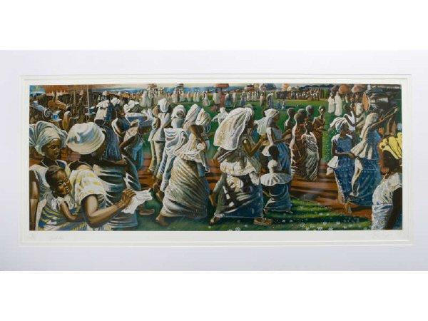 """16: John Biggers, """"Jubilee (Ghana Harvest Festival)"""""""